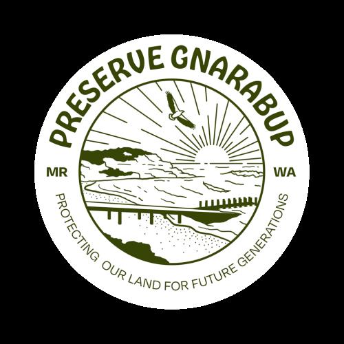 preserve gnarabup logo sticker green